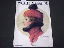 1916 FEBRUARY MCCALL'S MAGAZINE - FASHION ILLUSTRATIONS - CUT OUT PAGE - ST 172