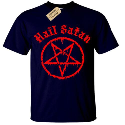 Hail Satan T-Shirt mens Pentagram rock goth unholy satanic punk emo