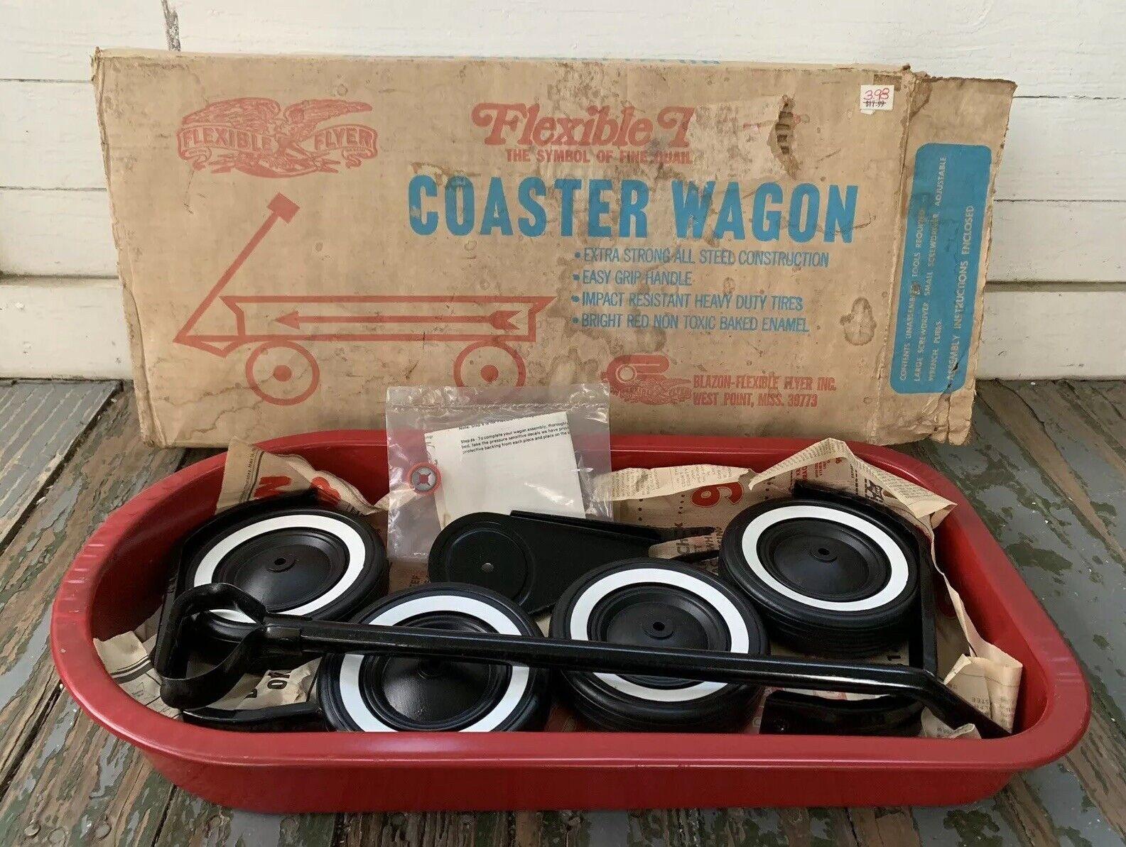 Vintage Flexible Flyer Coaster Wagon Metal Pull Wagon New In Box