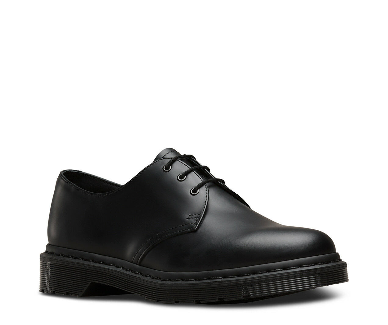 New Hommes Dr Martens 1461 3 Eye Noir Lisse Mono Cuir Oxford Chaussures
