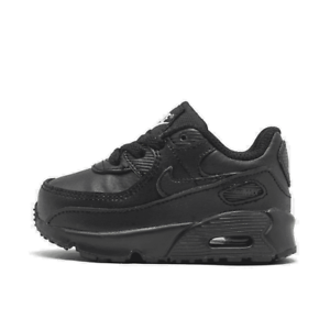 Boys/' Toddler Nike Air Max 90 Casual Shoes Black//Black//Black//White CD6868 001 Si