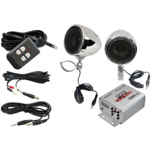 PYLE PLMCA10 STEREO AMPLIFICATORE E CASSE PER CUSTOM MOTO STRADA CON STEREO MP3