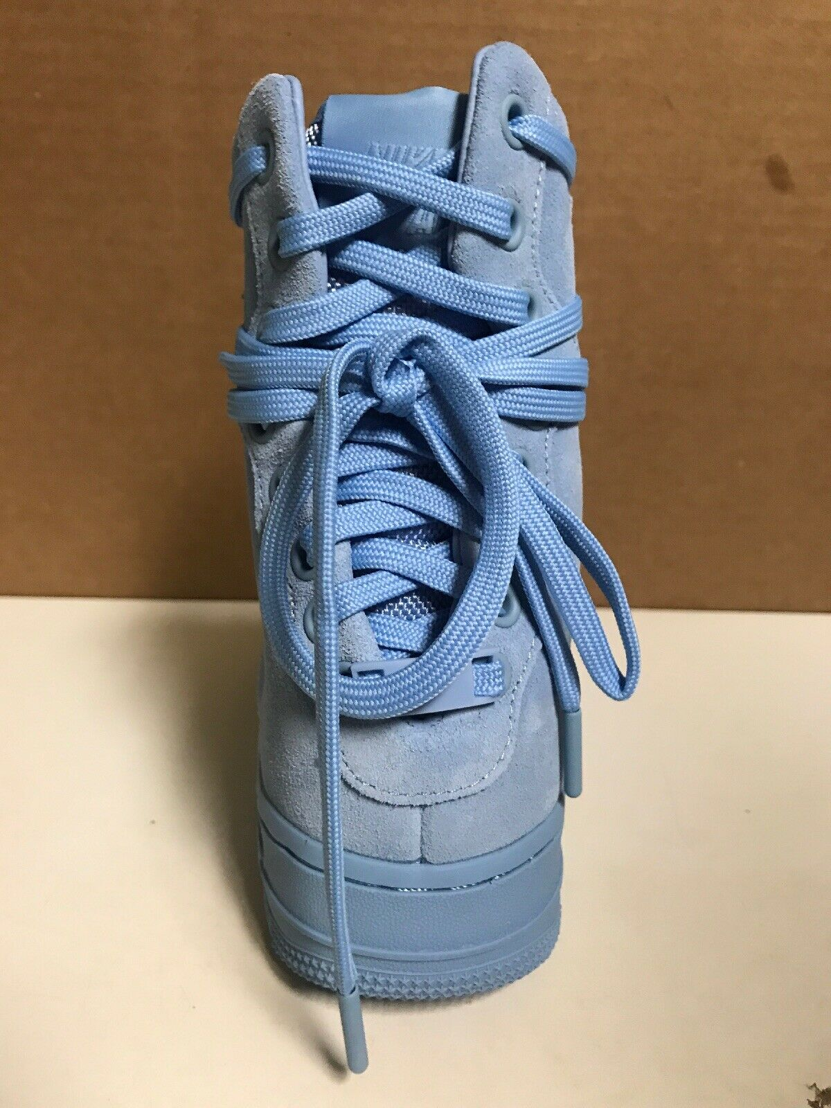 WOMENS NIKE AF1 REBEL XX XX XX AIR FORCE 1   AO1525 400   SIZE 8   LIGHT blueE 016f59