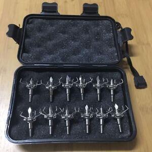 12-X-Judo-Arrow-Head-Broadheads-100Gr-Paw-Points-4mm-Screw-For-Hunting-Tip-W-BOX