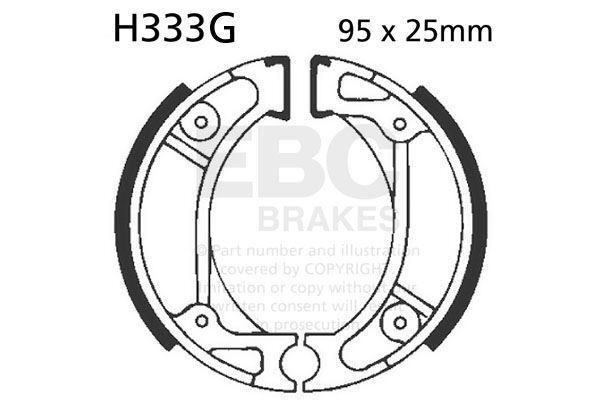 Ajuste Honda Crf 80 F4/ F5/ F6/ F7/ F8/ F9/ Fb / FC 04>12 EBC Ranurado Zapato De