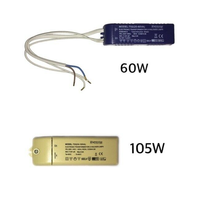 T02 60Va Electronic Dimmable Transformer for Low Voltage Halogen Lamps