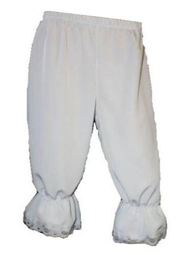White Steampunk Victorian Long 3//4 Bloomers Pants Shorts Fancy Dress Halloween