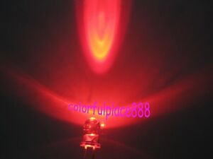 5mm Orange Round High Power Super Bright Water Clear LED Leds 2-Pin New 1000pcs
