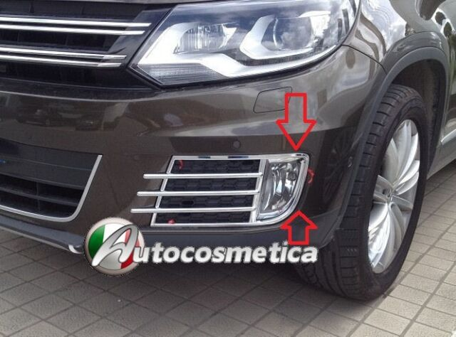 set cover fendinebbia cornici cromo abs VW TIGUAN modello restyling 2013->