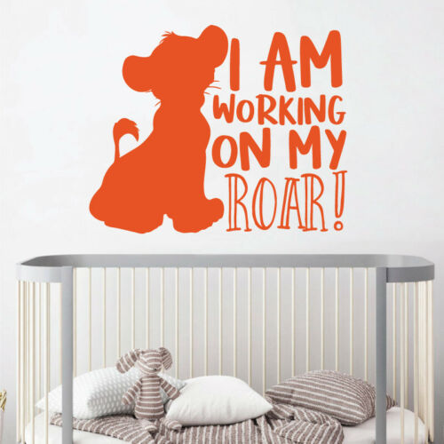 Children Decal Wall Sticker Lion King I am working on my ROAR