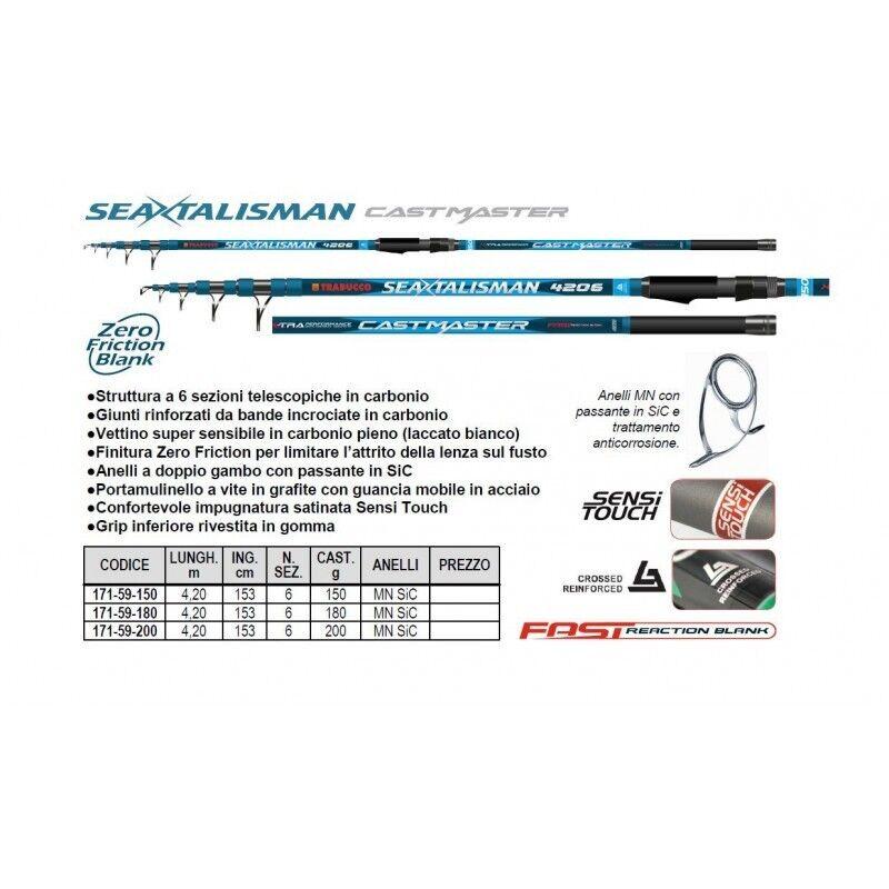 CANNA TRABUCCO Seatalisman Castmaster  lunghezza mt 4,20  az.180gr SURF CASTING