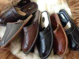 New-Mens-Brown-Leather-Slippers-Shoes-Size-7-8-9-10-11-12-13-Luxury-Flip-Flop