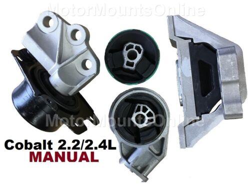 9R3106 4pc Motor Mounts n Front Insert fit MANUAL 2.2L 2.4L Chevy Cobalt 06-10