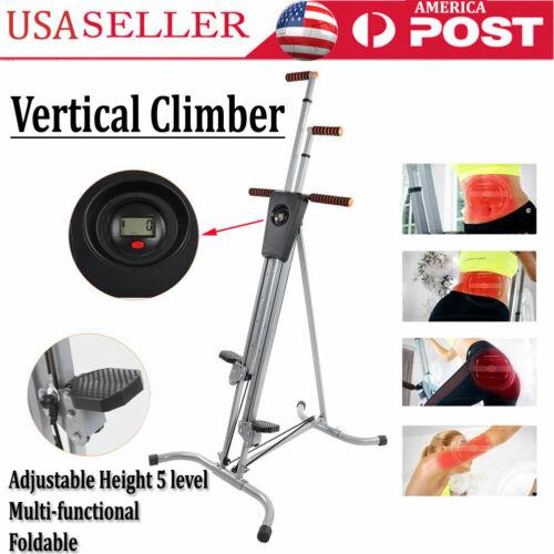Vertical Climber Fitness Climbing Cardio Machine Home Stepper Heavy Duty