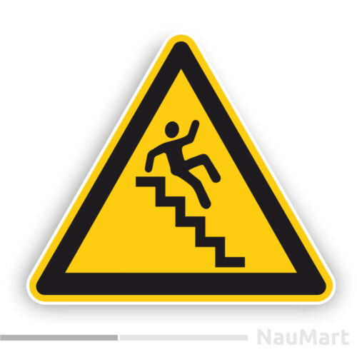 STAIRWAY Sticker // decal ST310 Attention caution sign Be careful