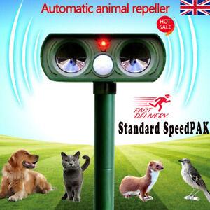 Solar-Power-Ultrasonic-Pest-Animal-Repeller-Garden-Home-Dog-Scarer-Cat-HOT-UK