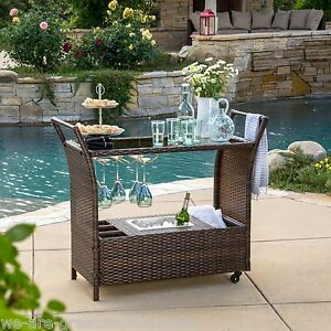 outdoor portable multi brown wicker kitchen island rolling
