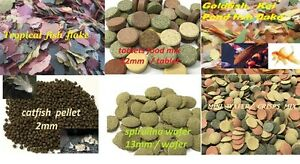 FISH-FOOD-FEED-TABLET-WAFER-PELLETS-FLAKE-CORY-PLECO-TETRA-PLATY-GOLDFISH-LOACH