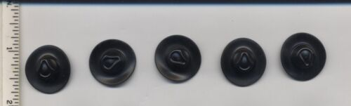 LEGO x 5 Black Minifig Headgear Hat Very Wide Brim Fedora Outback Style