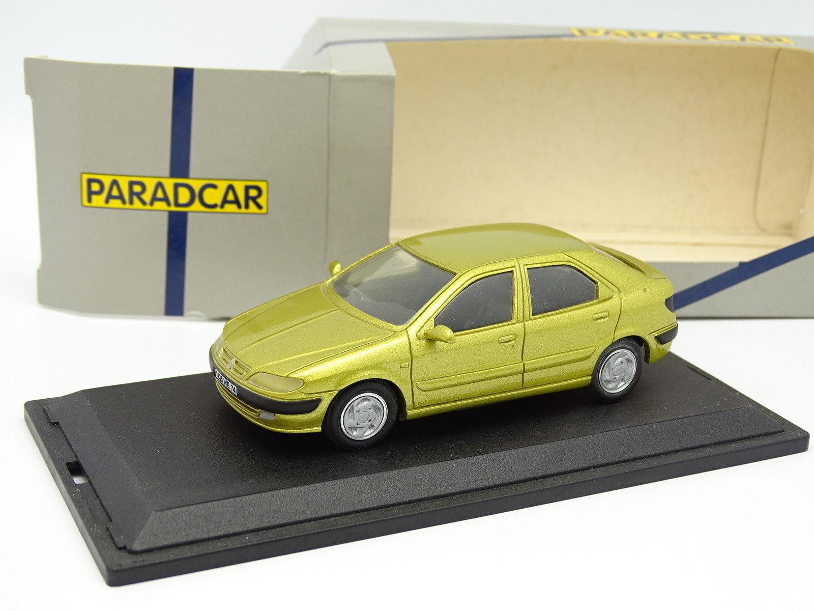 Paradcar Résine 1 43 - Citroen Xsara 5 Portes giallo