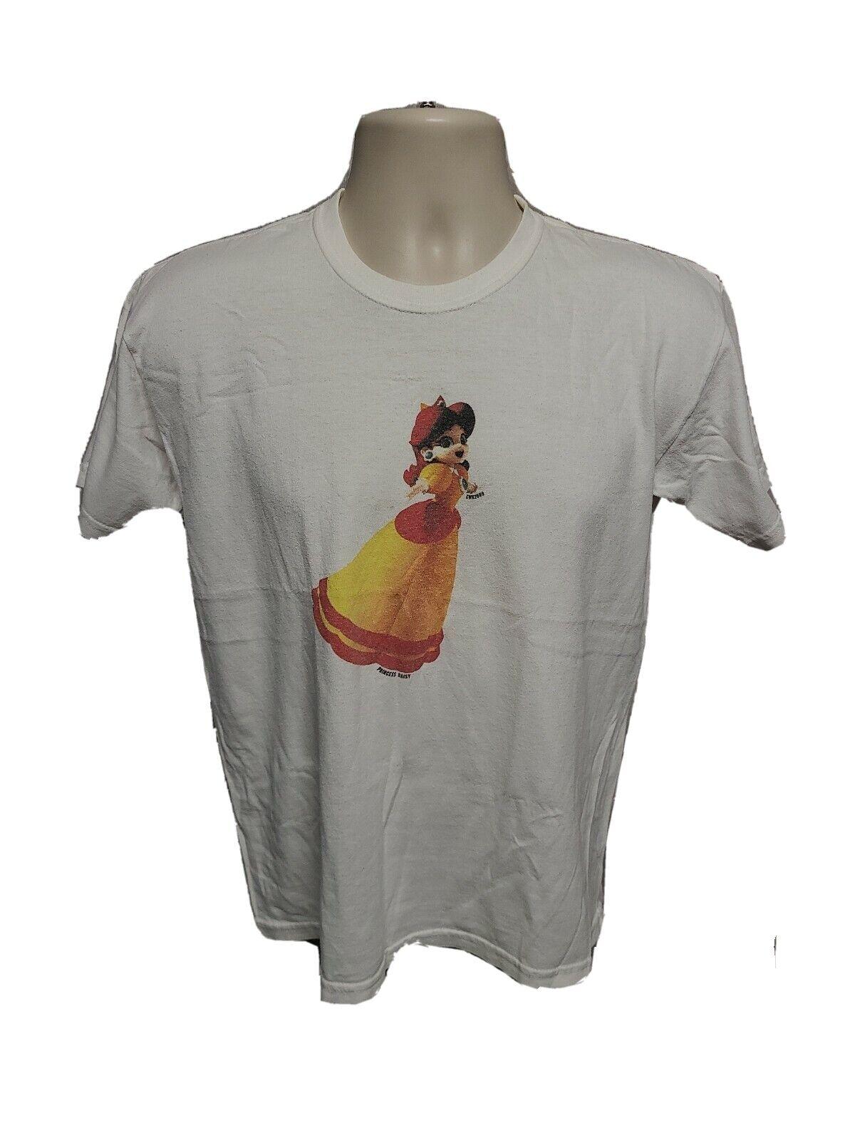 2009 Super Mario Bros Princess Daisy Kids White XL TShirt