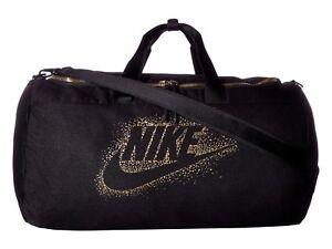 Nike Metallic Duffel Bag, BA5752 010 Black Black Metallic Gold 1892 ... 001b2ae404