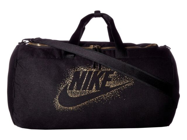 9fa45ce4d Nike Metallic Duffel Bag, BA5752 010 Black/Black/Metallic Gold 1892 CU IN