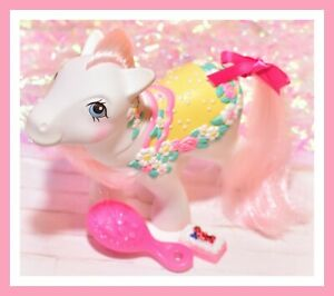 My-Little-Pony-MLP-G1-Vtg-Merry-Go-Round-Ponies-Carousel-Flower-Bouquet