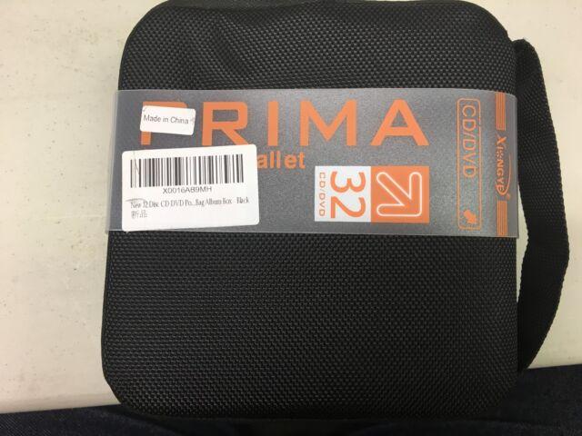 New 32 Disc CD DVD Portable Wallet Storage Organizer Holder Case Bag Album Box -