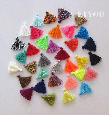 1800Pcs Mini Cotton Tassel For DIY Dress,Cloth,Jewelry Acessory 3CM Mix Color