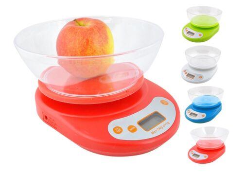 Balance de cuisine balance numérique Balance budgétaire 5 kg avec bol balance cuisine neuf #234