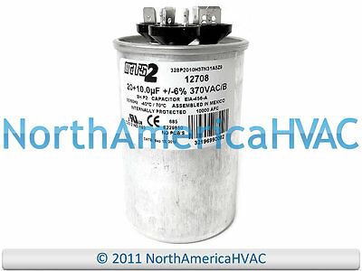 fits Armstrong # 89M8001 ClimaTek Round Capacitor 45//5 uf MFD 370//440 Volt VAC