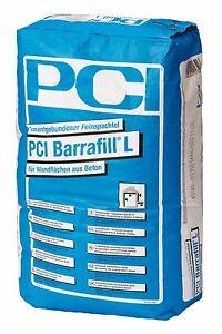 PCI-Barrafill-L-25-kg-Zementgebundener-Feinspachtel-fur-Wandflachen-aus-Beton