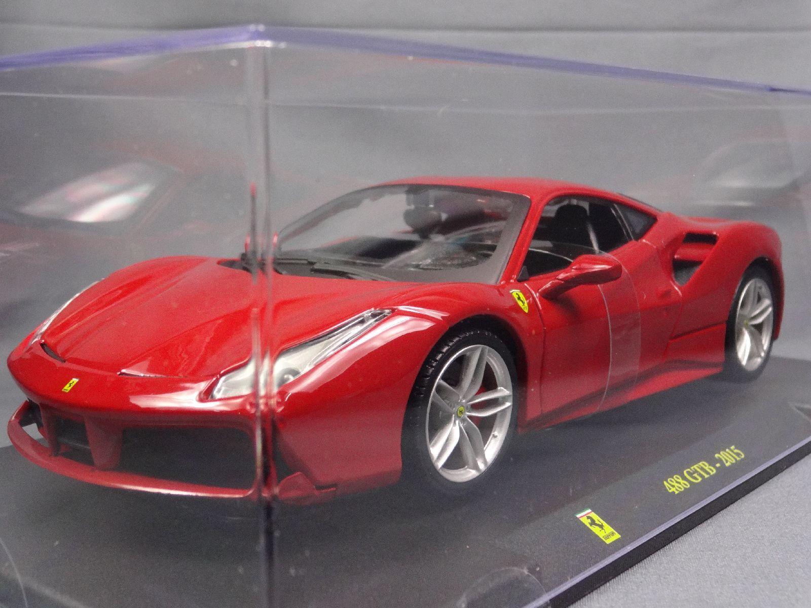 Ferrari collection collection collection 488 GTB 2015 1 24 Scale Box Mini Car Display Diecast vol 11 0b9920