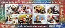 Indian Musicians-Ravi Shankar-Bhimsen-Pattammal-Hangal-Gandharva-MINIATURE SHEET