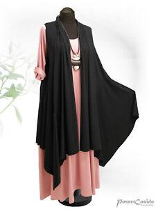 PoCo LAGENLOOK Tunika Shirt Jacke Mantel 46 48 50 52 54 56 58 L-XL-XXL-XXXL