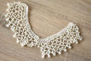 Crochet-Pearl-Cream-Collar-7cm-x-30cm-Applique-Sew-On