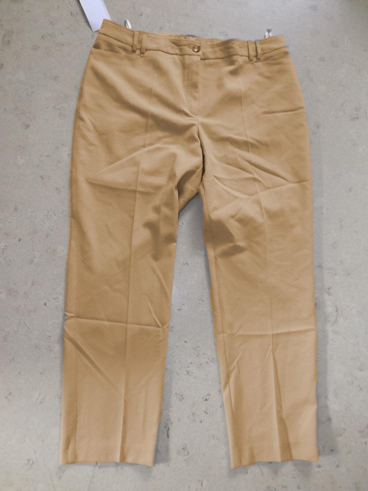 ulla popken  pantalon  taille 46  Beige  baumwollhose  classic slim stretch