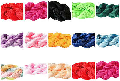 Braided Nylon Cord Thread lady-muck1 Kumihimo 2mm 14mtr Premium Quality