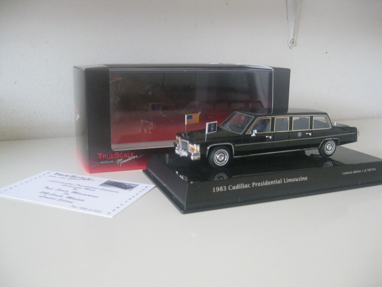 True Scale 1983 Cadillac President Reagan Limousine 1/43 Limited Edition Edition Edition Limo 8b9436