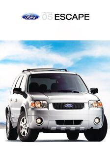 Limited 2005 Ford Escape 24-page Original Car Sales Brochure Catalog