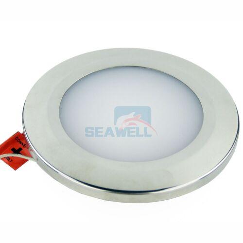 Marine Ceiling Dome Light Stainless Boat Caravan Interior Light 12//24V LED 155mm
