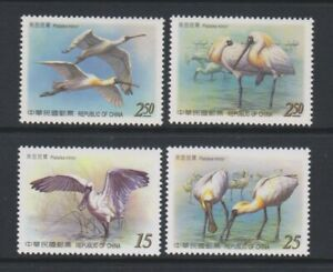 China (Taiwan) - 2004, Endangered Species, Spoonbill Bird set - MNH - SG 3028/31