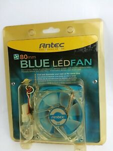 Antec Blue LED Fan New In Package  80mm (very old stack - see the photos)
