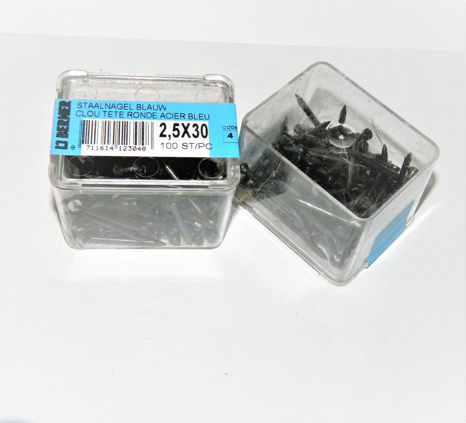 50 Stahln/ägel gebl/äut 2 x 40 mm