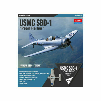 1//48 12331 USMC SBD-1Pearl Harbor Academy Hobby Model Kits