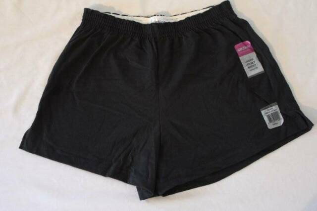 ed2c513a24 NEW Womens Jersey Shorts Size Large Junior Fit Black Ladies Cotton Bottoms