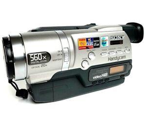 SONY-handycam-video-CCD-TR748E-Hi8-PAL-defectueux-ERREUR-C-21-00