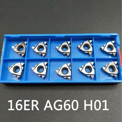 10pc 16ER AG60 H01 CNC Threading blade lathe turning Carbide Insert for Aluminum