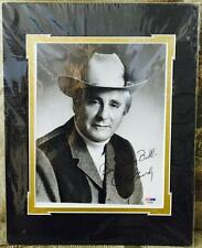 """CURT GOWDY Signed """"Best Wishes, Bill"""" on a 8x10 b&w Photo PSA/DNA E27051 COA *"""